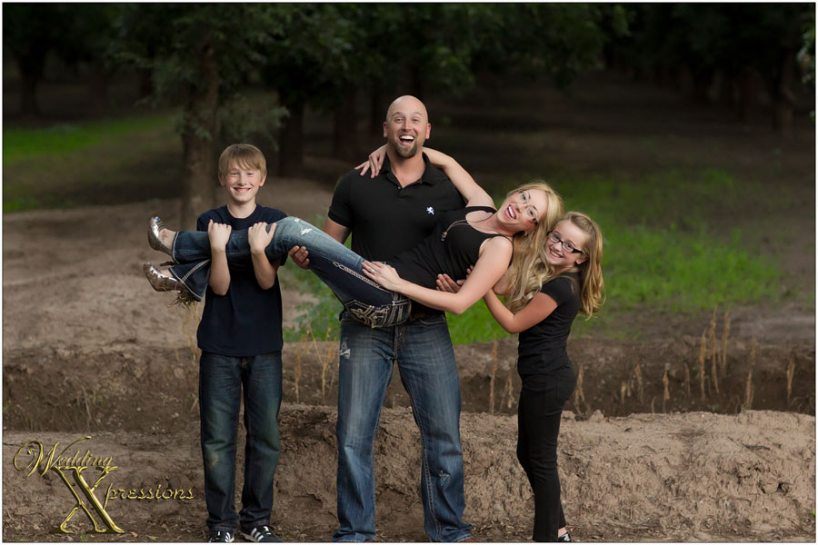 family having fun during family photography