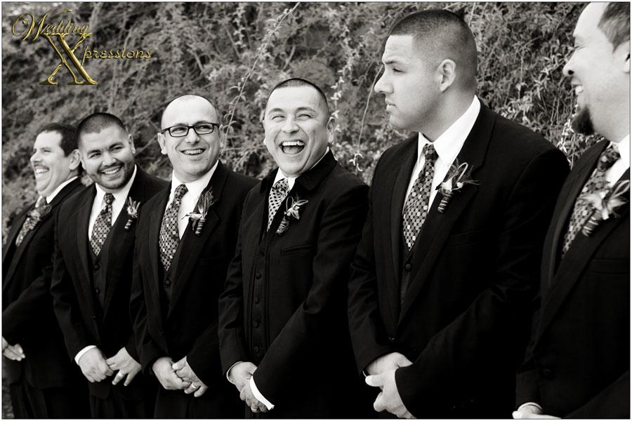 groomsmen laughing on Mario's wedding day