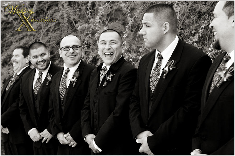 groomsmen laughing on Mario's wedding day