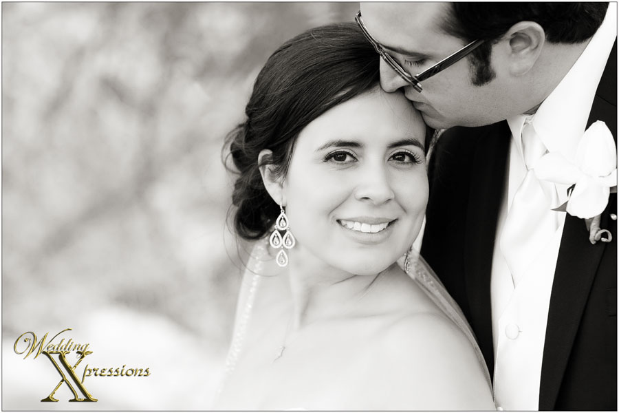 bride and groom in black and white wedding photography