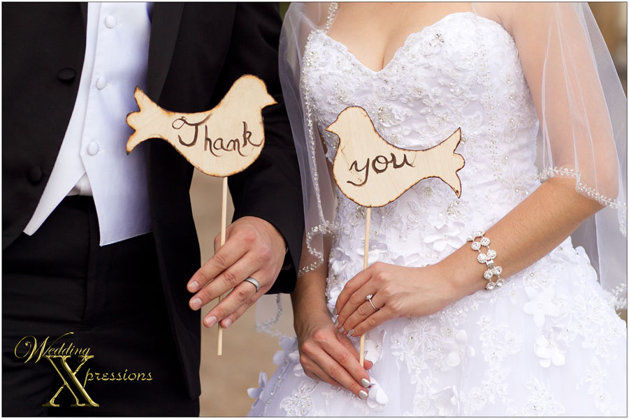 A thank you from the bride and groom