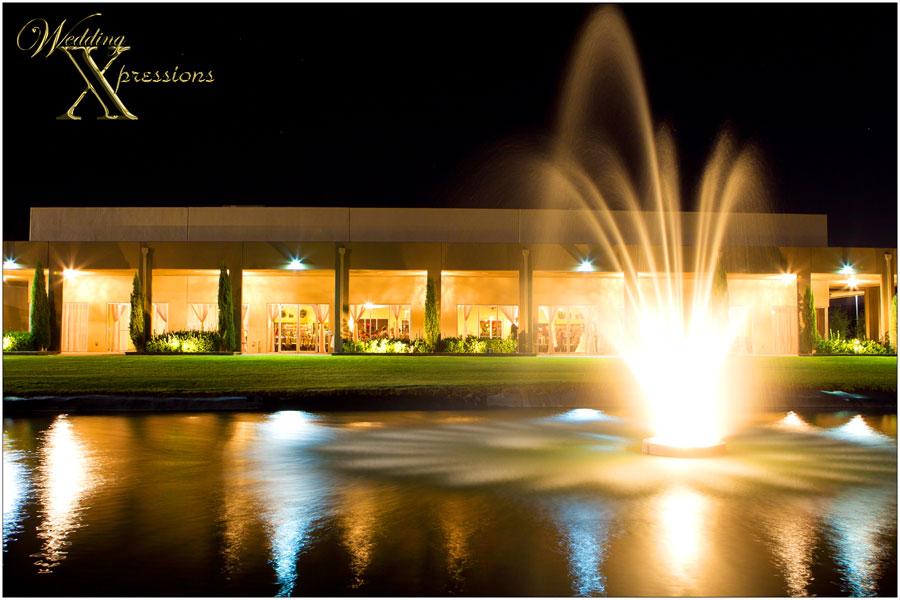 Grace Gardens lake at night
