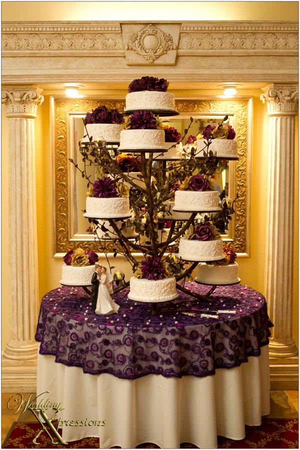 wedding cake at the Monte Carlo Hall in El Paso, TX