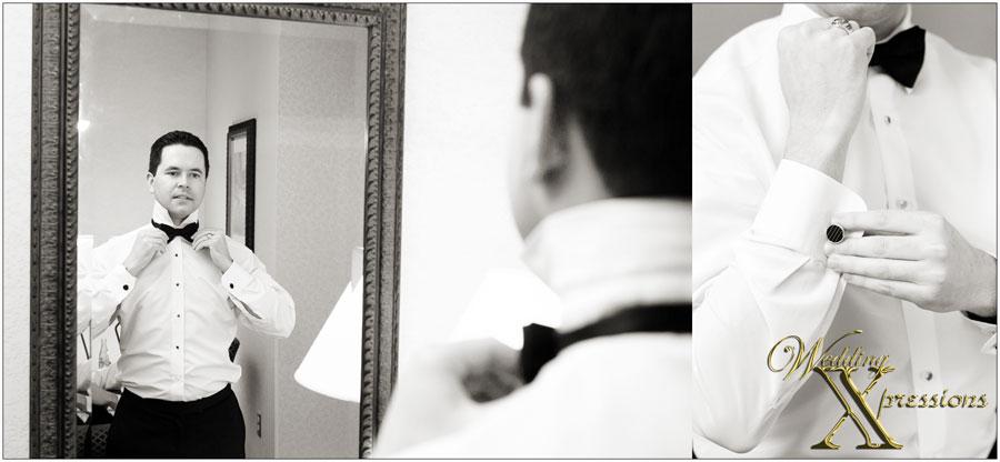 groom getting ready on wedding day