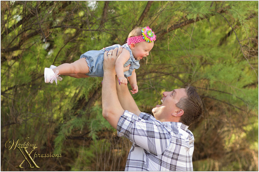 baby girl with dad
