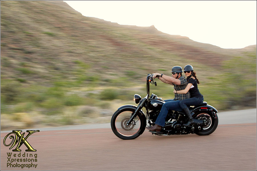 riding Harley Davidson Bike