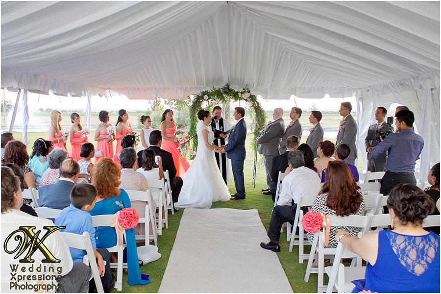 wedding ceremony at Grace Gardens in El Paso, TX
