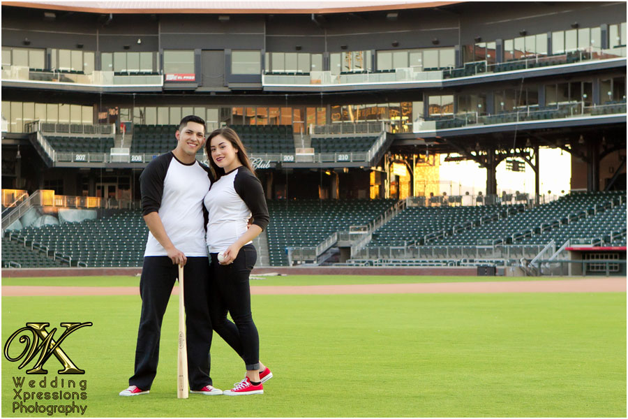 engagement session at Southwest University Park