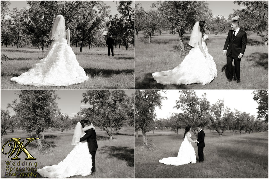 wedding photography of first look