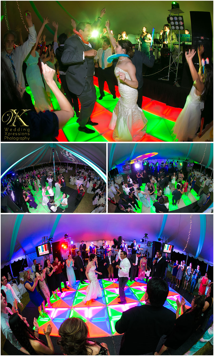 colorful wedding dance
