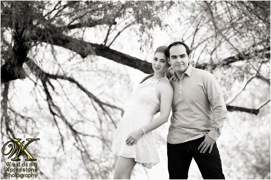 black and white engagement session photography