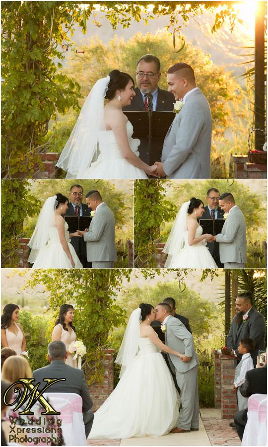 wedding ceremony at Ardovino's Desert Crossing