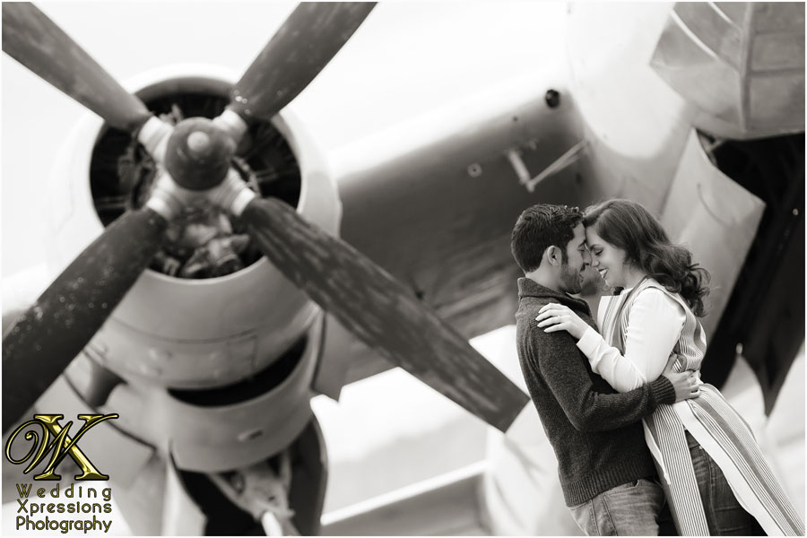 El Paso engagement session at War Eagles Museum