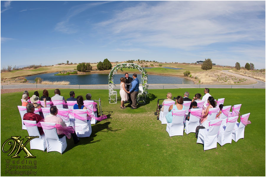 wedding ceremony at Butterfield Trail Golf Course