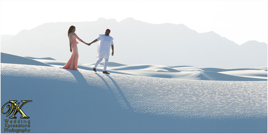 engagement session at White Sands