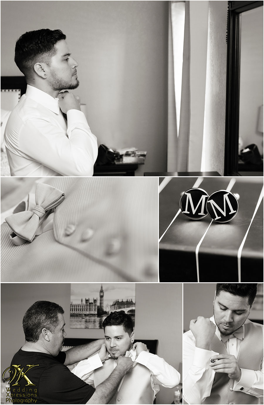 wedding photography of groom getting ready