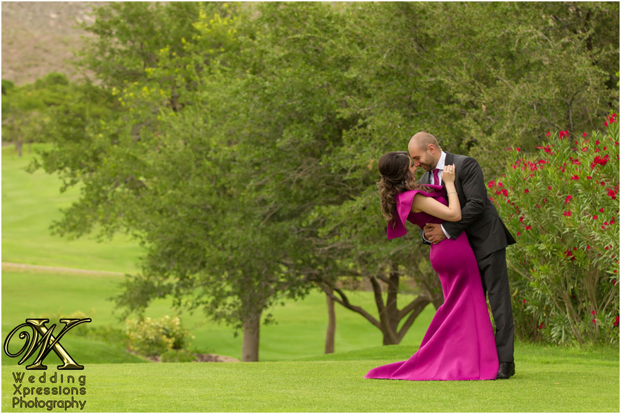 El Paso engagement photography at country club