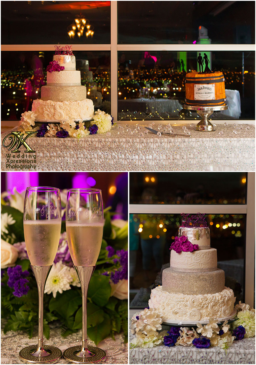 wedding cake and grooms cake