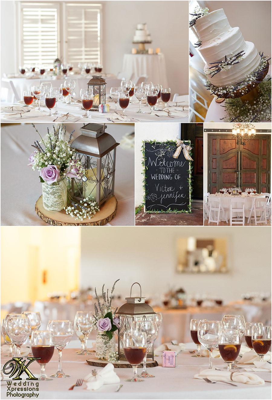 wedding reception at Los Portales