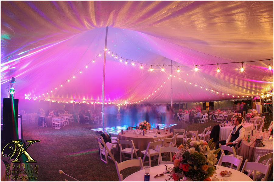 tent at Los Portales during wedding