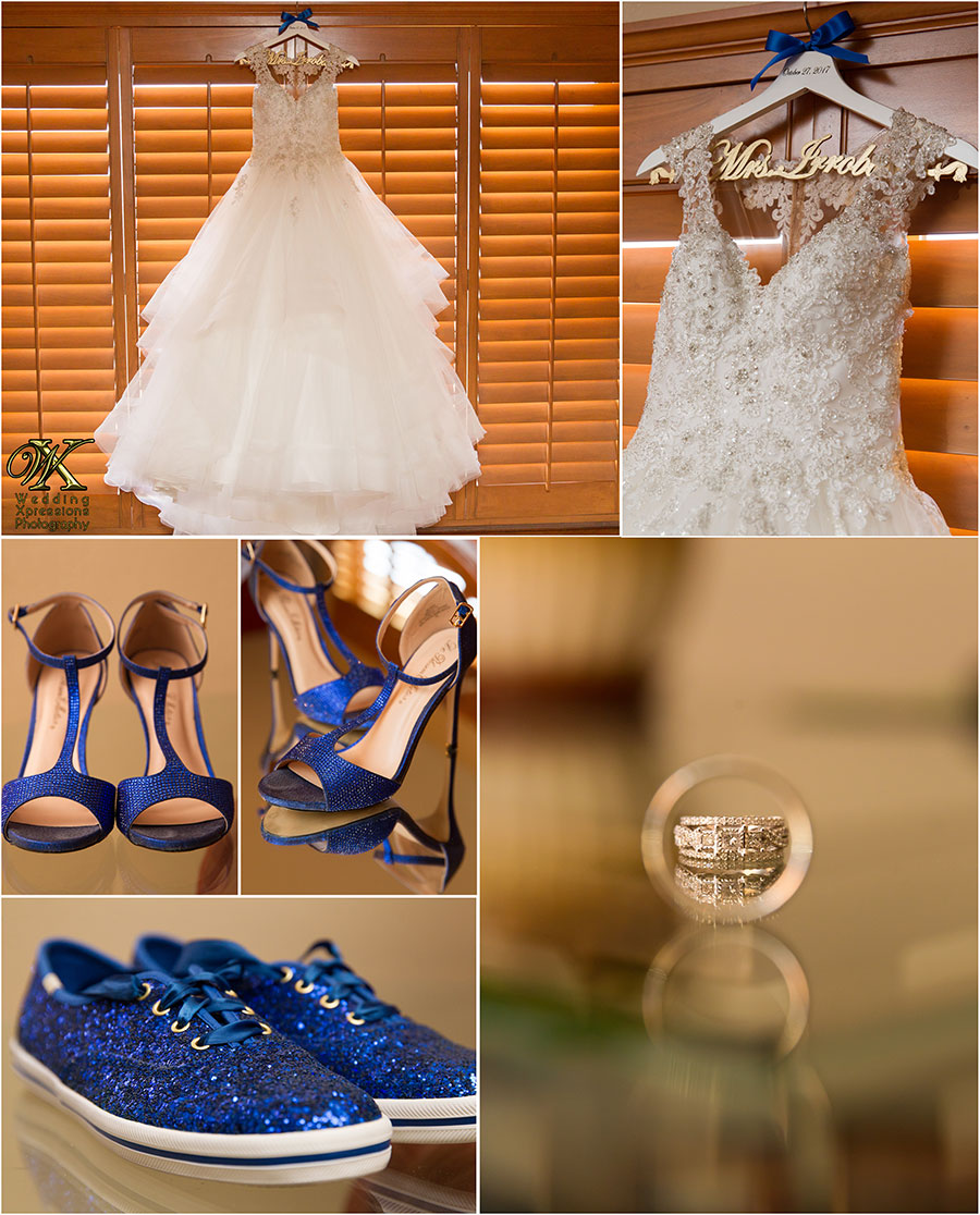 bride's dress shoes and rings