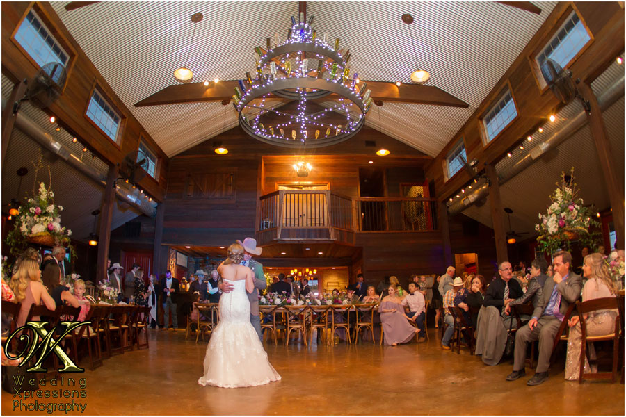 first dance at Thistle Springs Ranch wedding