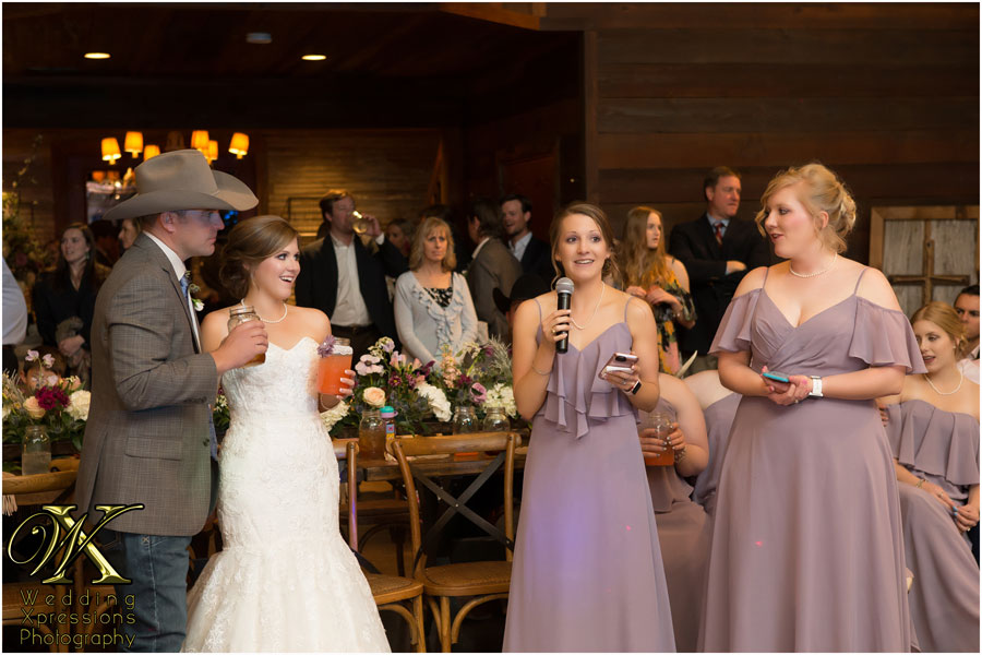 wedding toast at Thistle Springs Ranch