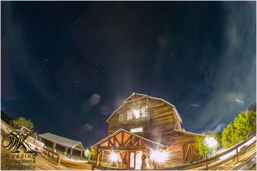 Thistle Springs Ranch at night