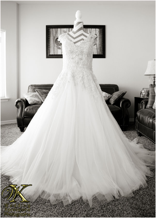 bridal dress on mannequin