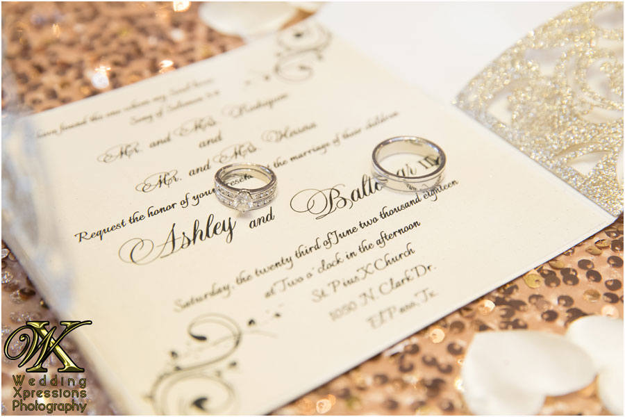 wedding invitations with rings