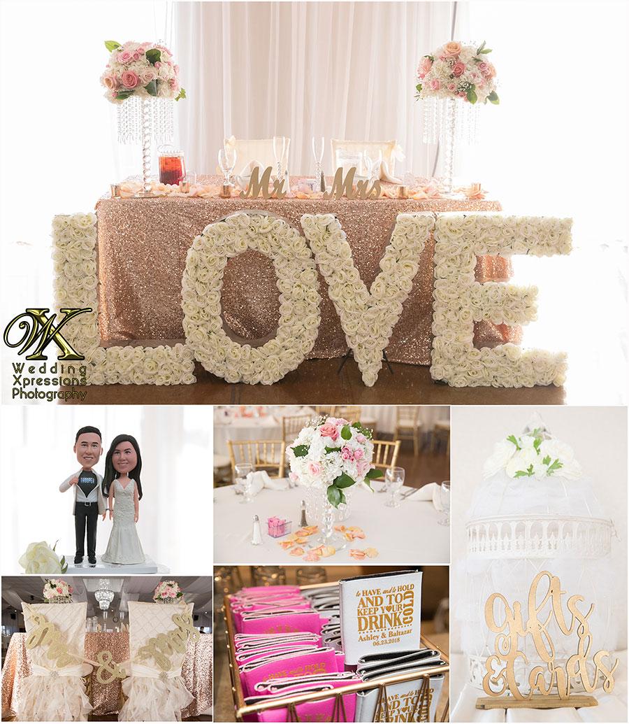 wedding details at Grace Gardens in El Paso