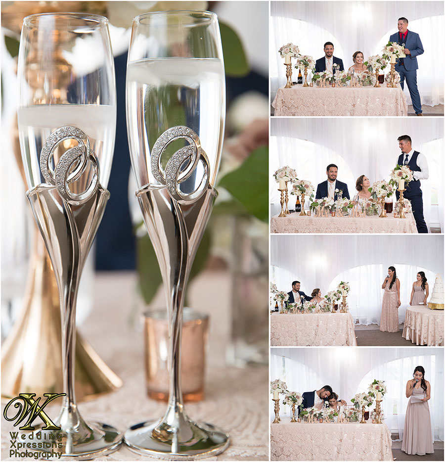 wedding toast at Grace Gardens by El Paso wedding photographers