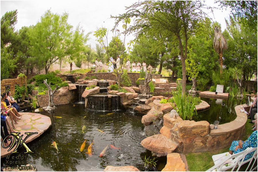 wedding ceremony at The Secret Garden in El Paso