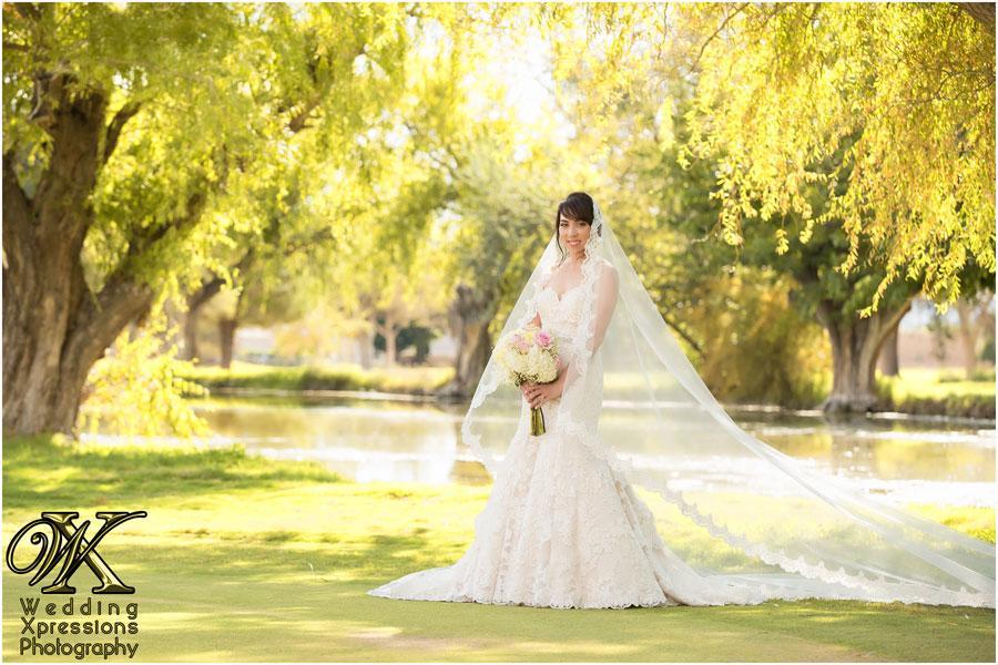 bride on wedding day in El Paso Texas