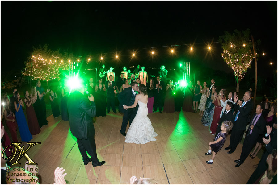 bride and groom dancing on the dance floor during El Paso wedding