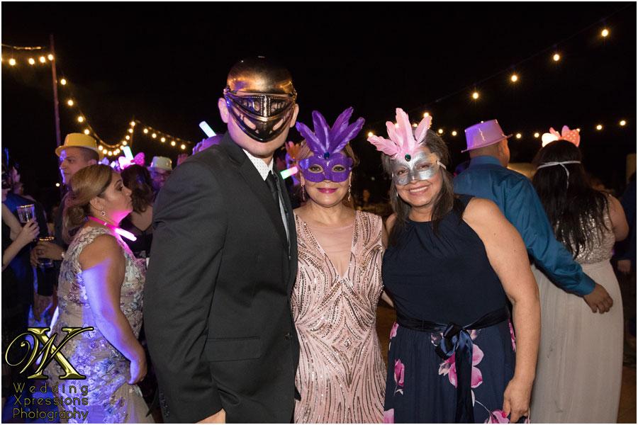 masquerade wedding reception dance in El Paso