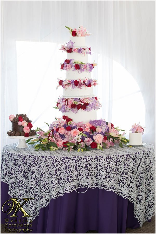 wedding cake at Grace Gardens white peak tent by Wedding Xpressions.