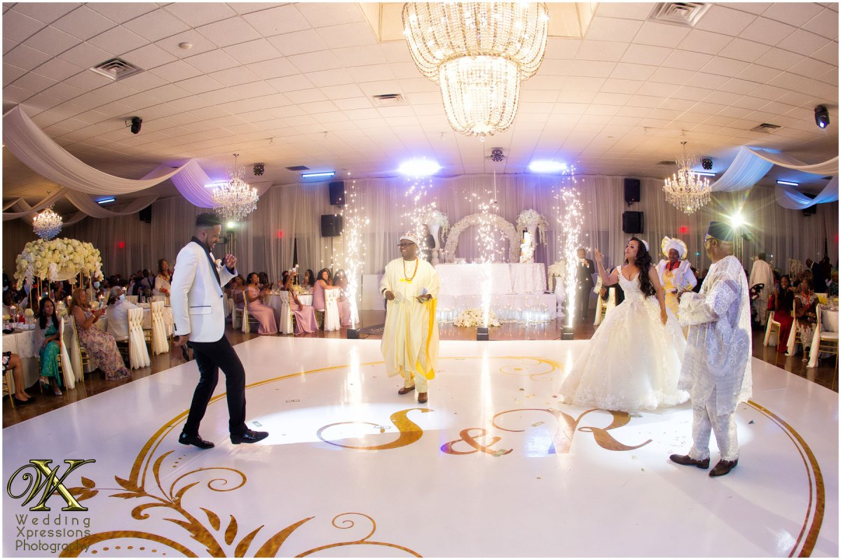 sparks fly during wedding dance