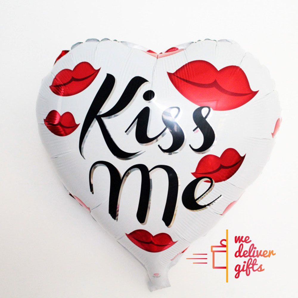 Kiss Me Heart Lips Balloon WeDeliverGifts