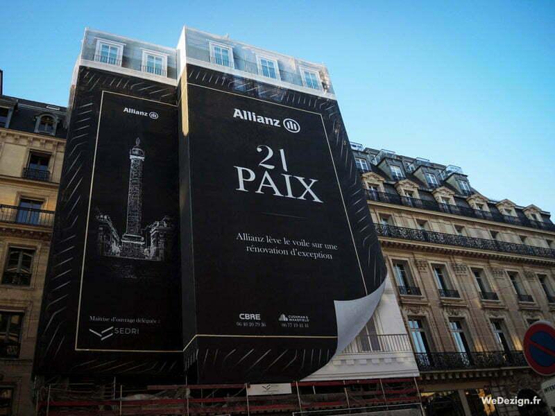 Bâche publicitaire échafaudage Allianz by WeDezign