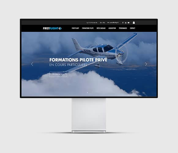 Site internet FirstFlight école de pilotage