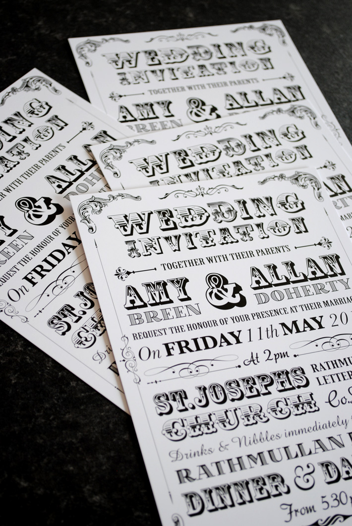 Festival Poster Style Wedding Invitations Wedfest