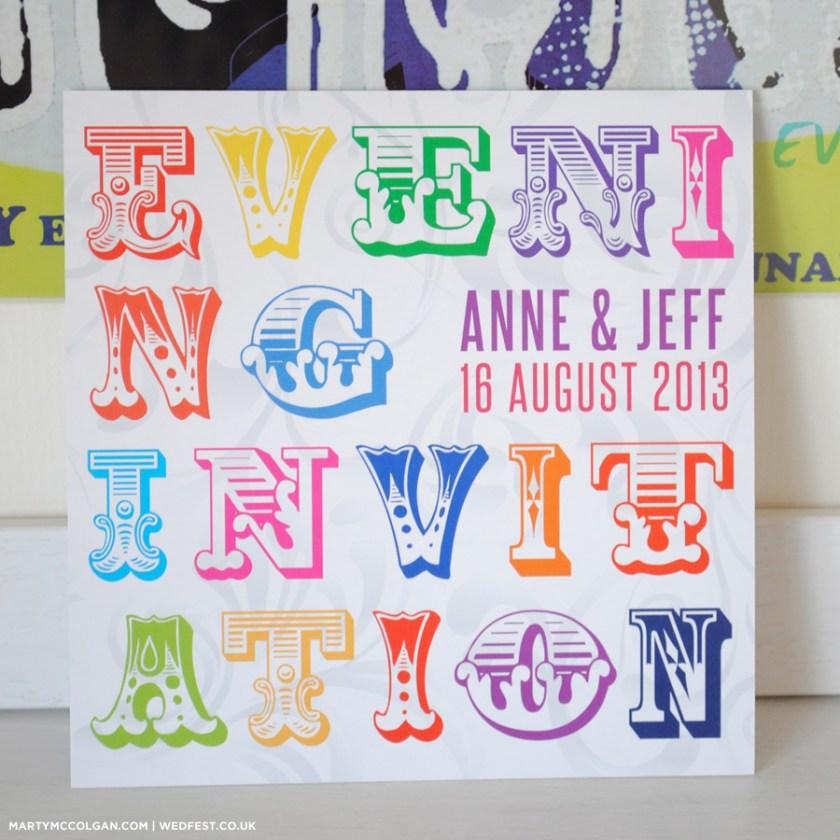 Typography Wedding Invites