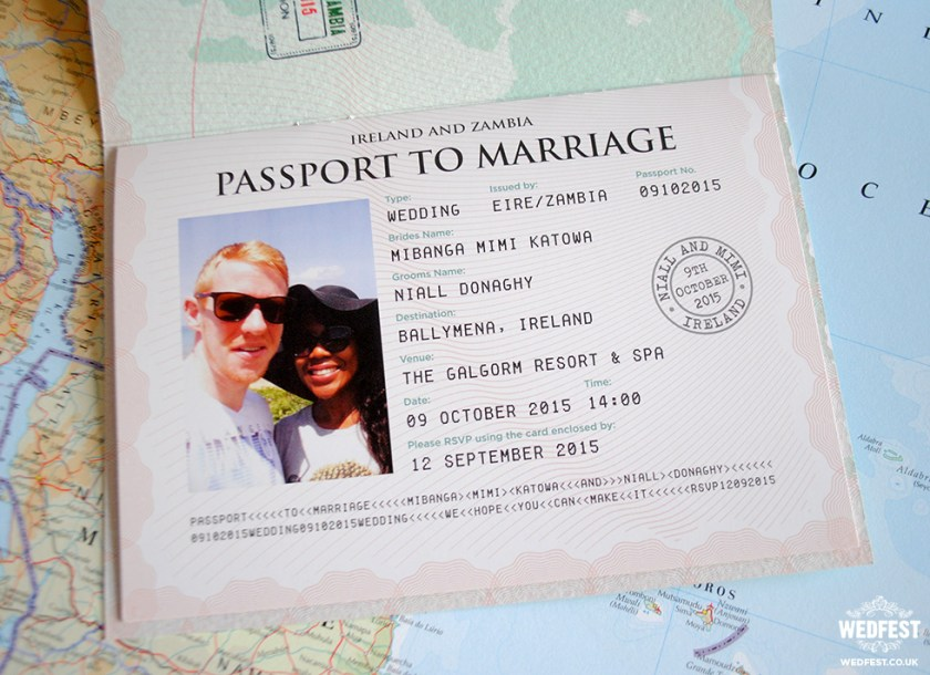 Personalised Pport Wedding Invitations