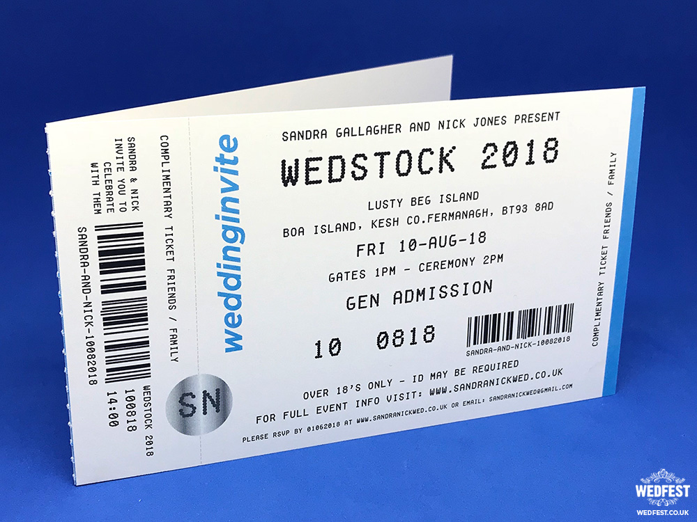 concert ticket wedding and party