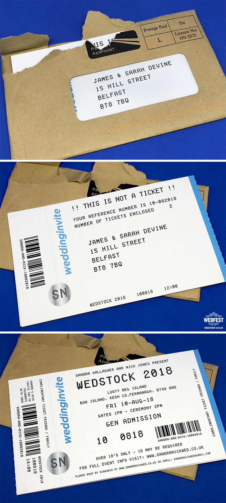 Concert Ticket Wedding And Party Invitations WEDFEST