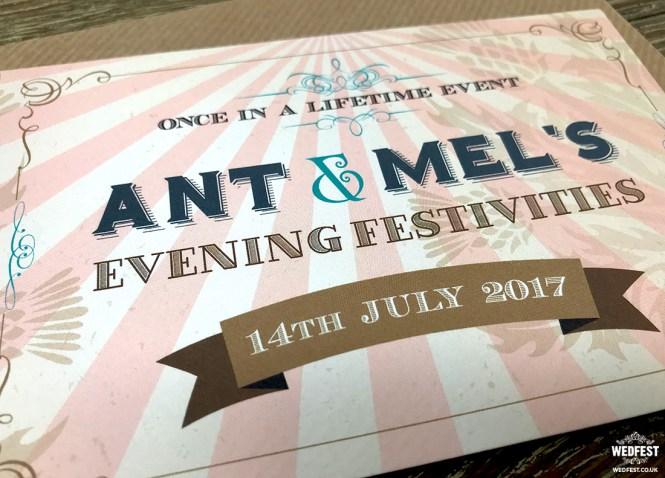 Vintage Festival Ticket Wedding Invitations Wedfest