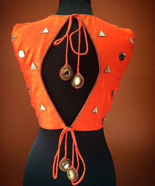 orange blouse design