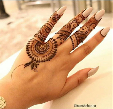 Latest Mehndi Designs  For Fingers
