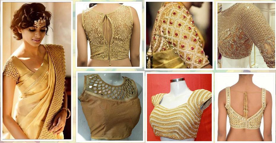 d093013524ce2 20+ Latest Golden Blouse Designs. kalamkari blouse design 2019